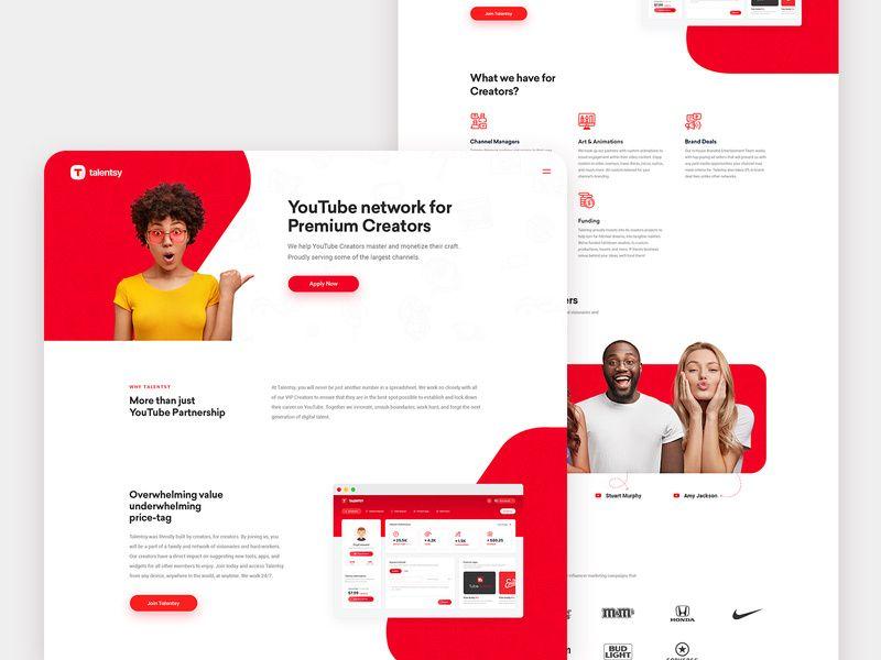 Talentsy Creators Website Home Page Web Design Business Website Design Web Inspiration