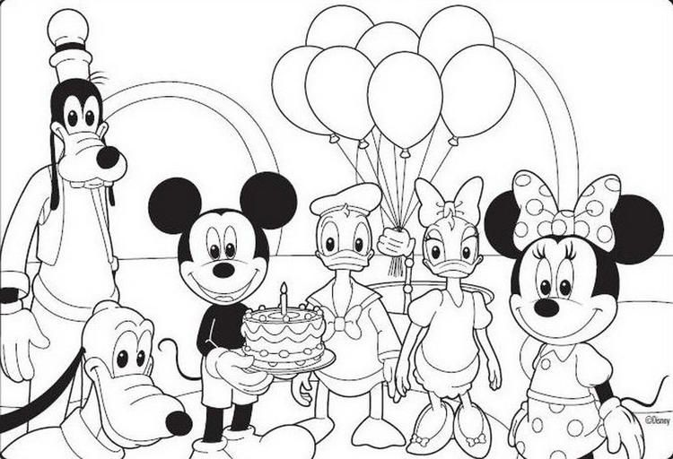 Birthday Mickey Mouse Coloring Pages Mickey Mouse Coloring Pages Birthday Coloring Pages Mickey Coloring Pages