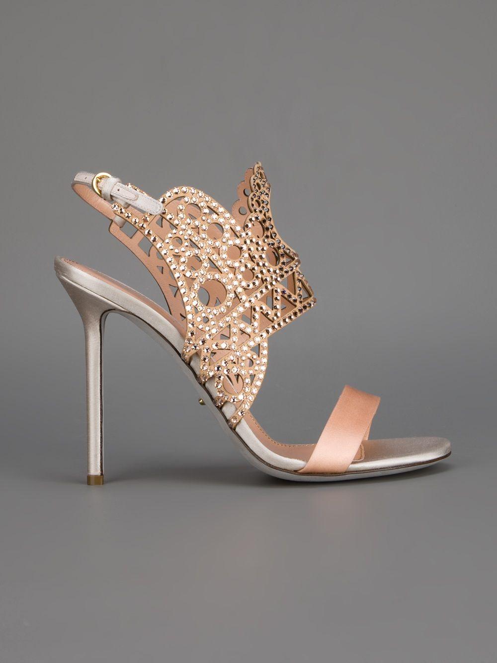 456e55b57468 Sergio Rossi Laser Cut Strap High Heel Sandal - - Farfetch.com ...