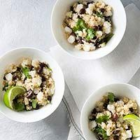 This Southwest-style salad was inspired by a recent trip to Arizona. Hominy is large, puffy, white corn with a nice bite to it. If you love the flavor of popcorn and the texture of pasta, this is a great whole grain to check out. Along with beans, its one of the few canned foods I really enjoy. The cumin adds a hint of spice, and it goes well with the bright lime and the caramel flavor of the agave in the dressing.