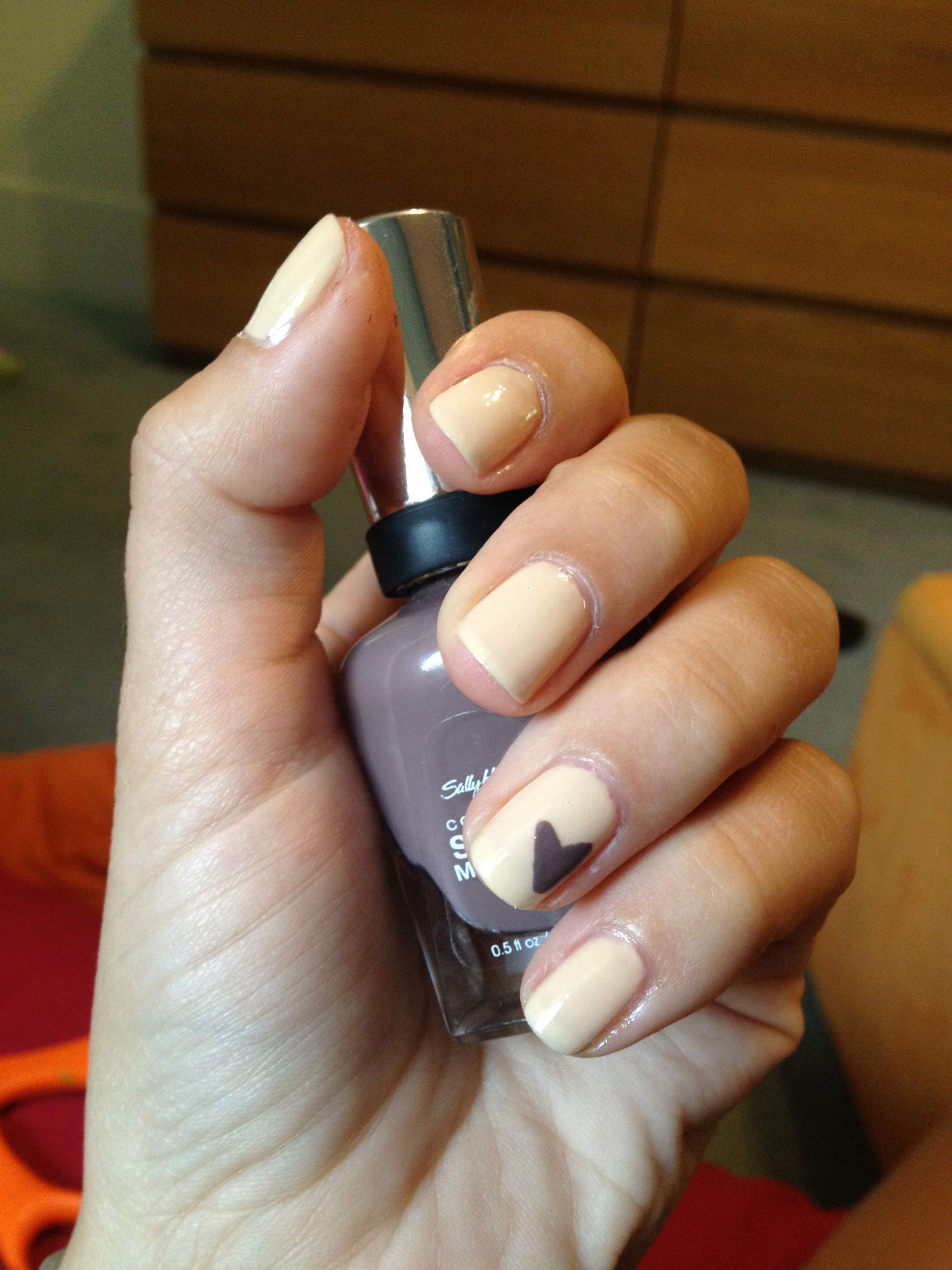 Avon - Sheer French Pink with Purple heart accent.
