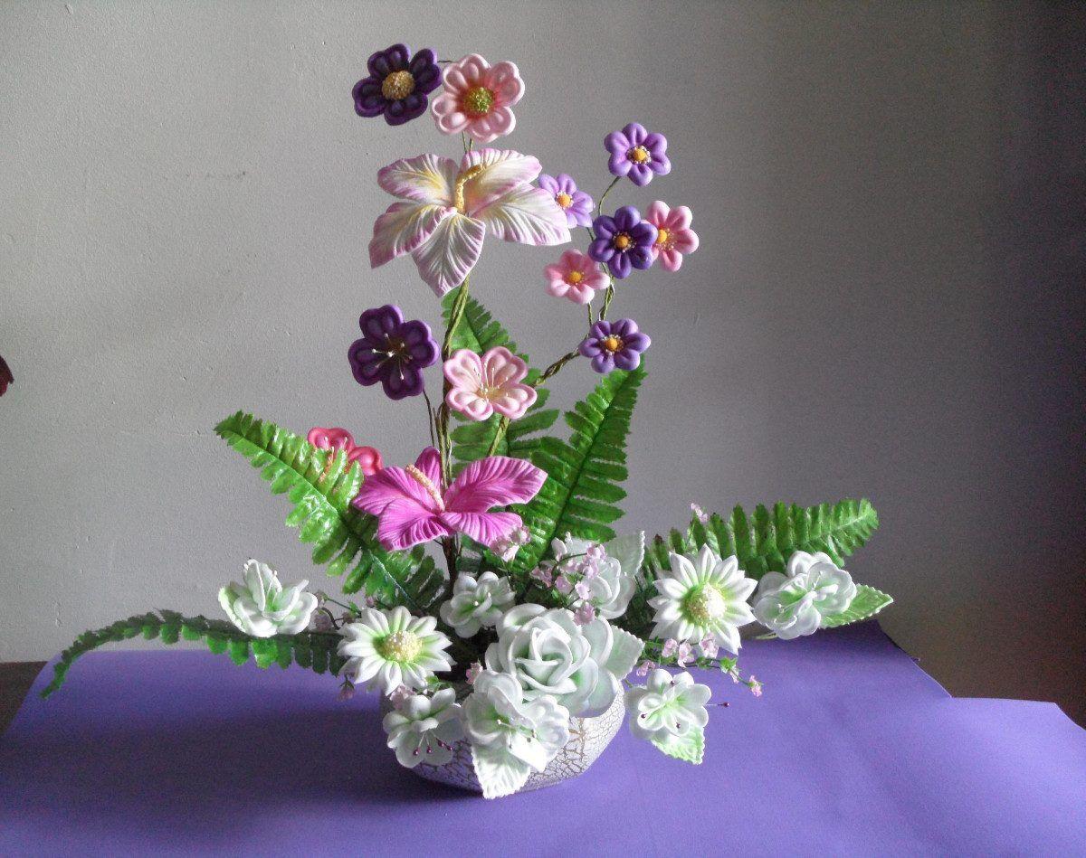 Dibujos de flores en fomi | Flower crafts, Diy and crafts, Flowers