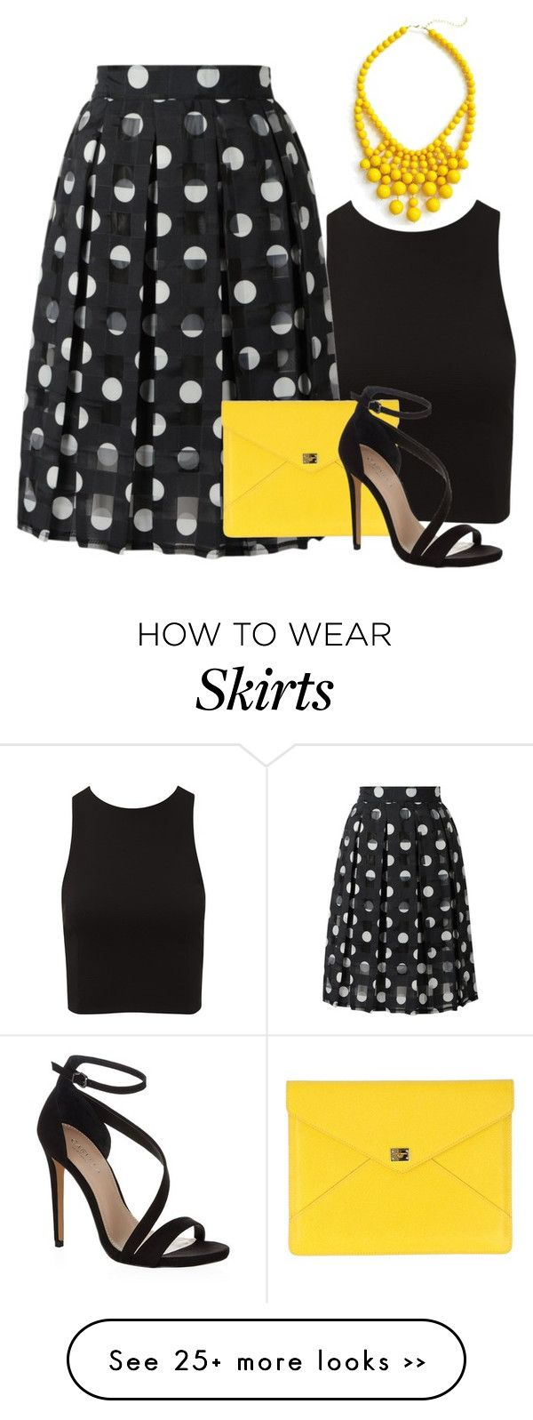 How to yellow wear skirt polyvore