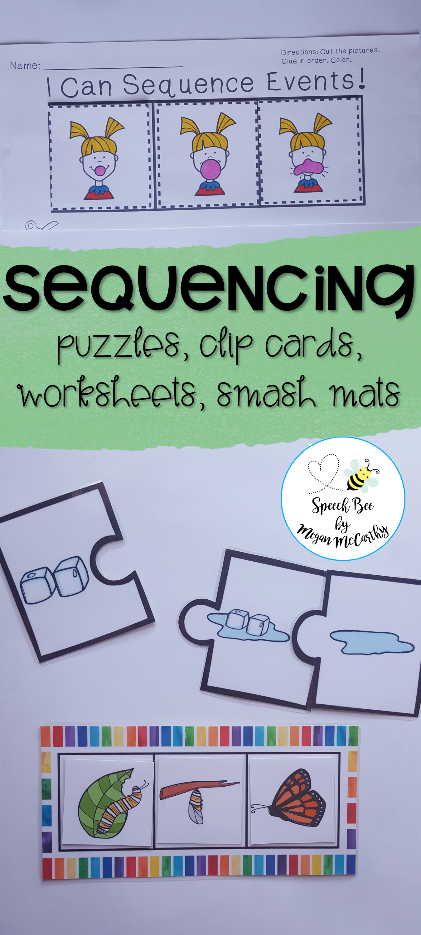 Sequencing Packet With No Prep Worksheets Distance