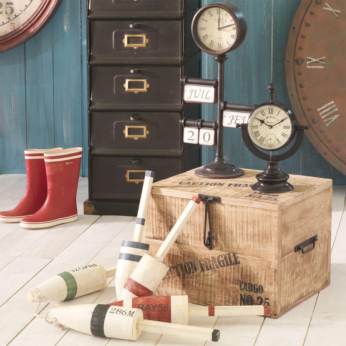 malle de rangement l 47 cm bord de mer pinterest maison maison du monde et deco. Black Bedroom Furniture Sets. Home Design Ideas
