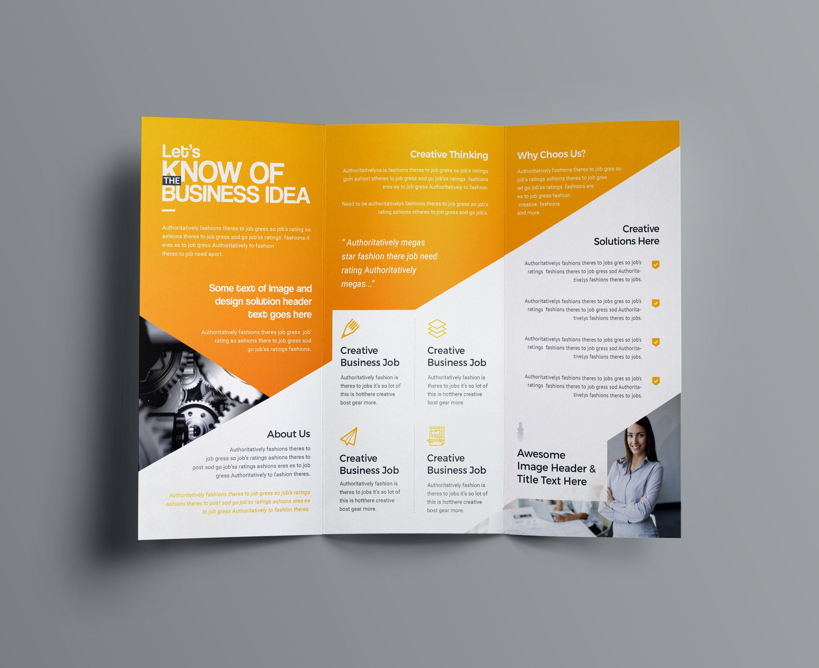 Aphrodite Business Tri Fold Brochure Template In 2020 Free