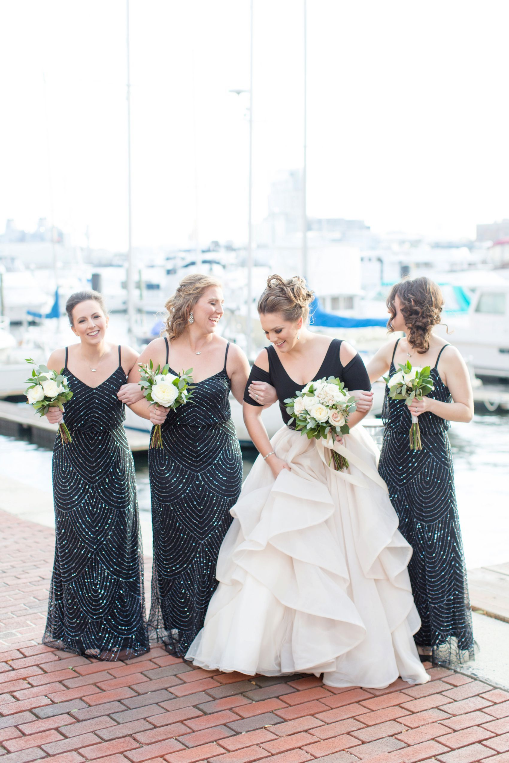 Baltimore wedding in fells point black tux groom wear and