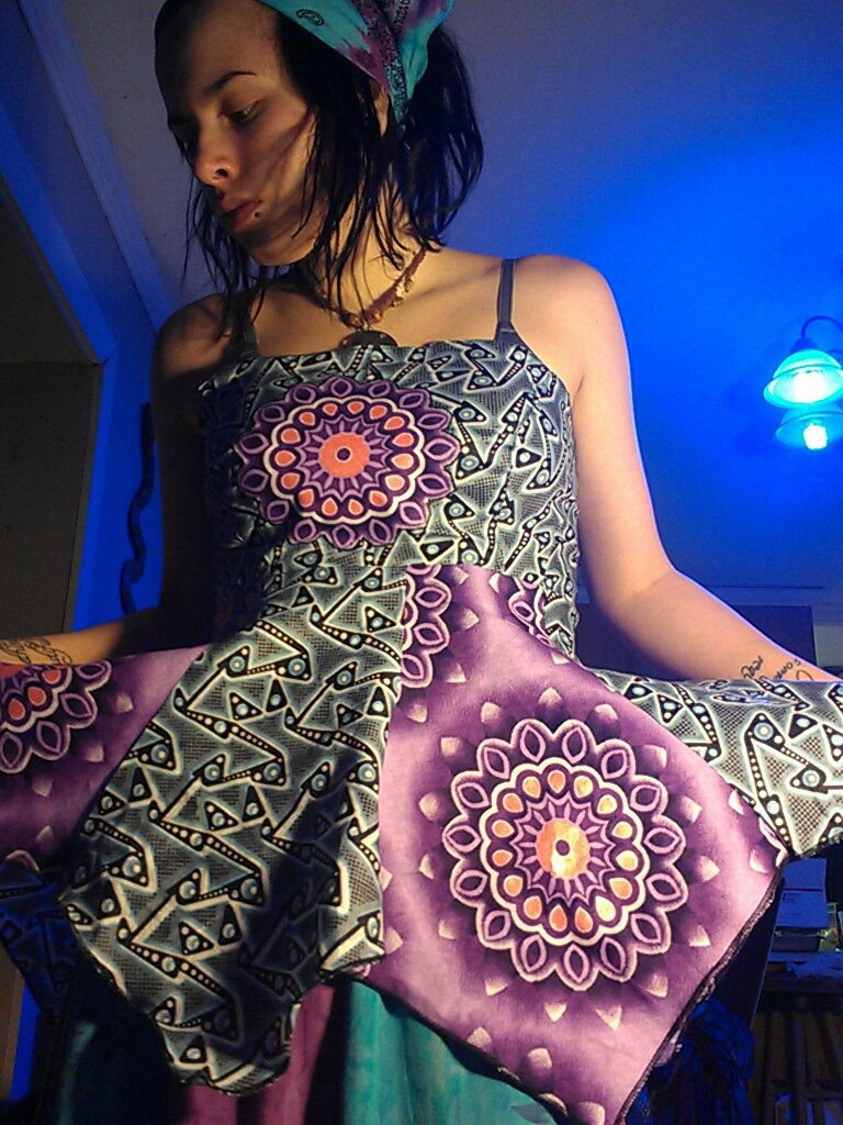 Custom Strapless Sacred Mandala Backless Lace Up Pixie Point Apron Top Hippie Boho Geometry African Wax Batik. $45.00, via Etsy.