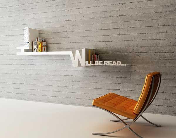 Typographic Organizing Target Books Shelf By Mebrure Oral Bookshelf Design Creative Bookshelves Cool Bookshelves