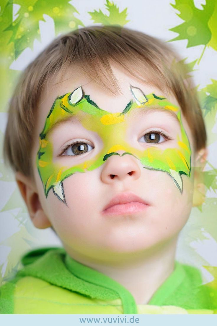 Photo of Ansiktsmaling dinosaurer # Karneval # Maskering #Kindergarten #Fest #Kindergebur …