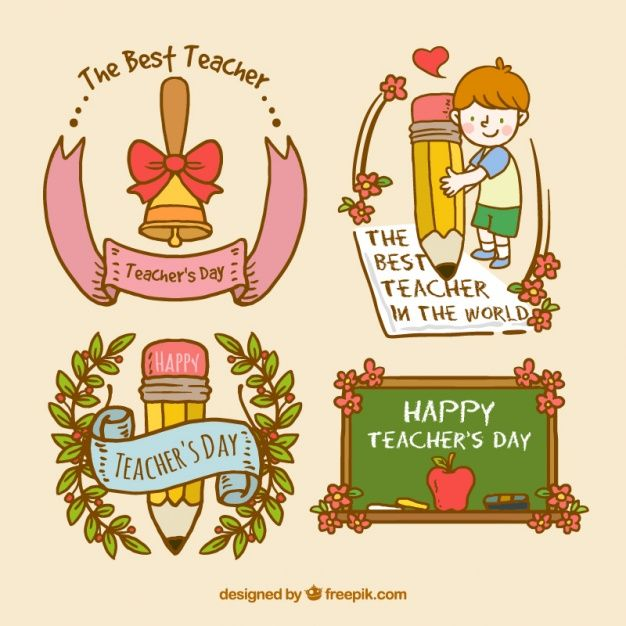 Download Teachers Day Badge Set For Free Teachers Day Drawing Teachers Day Teachers Day Card