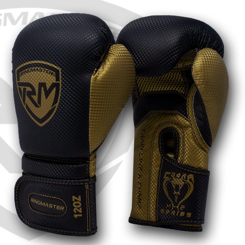 Photo of RingMaster Sports Cobra X2 Series Boxhandschuhe – Schwarz/Gold / 16oz