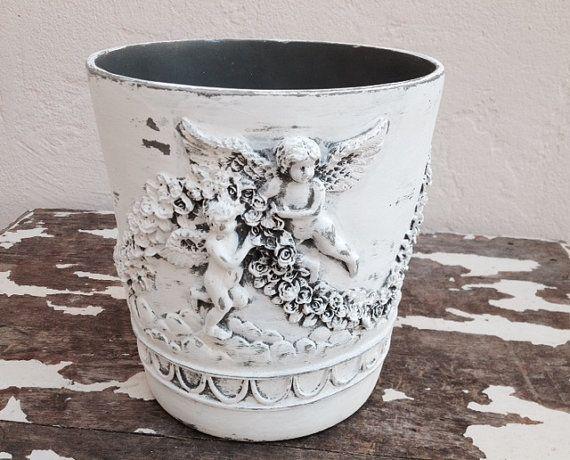 Angel waste paper basket rubbish decorative waste for Decorative items from waste paper