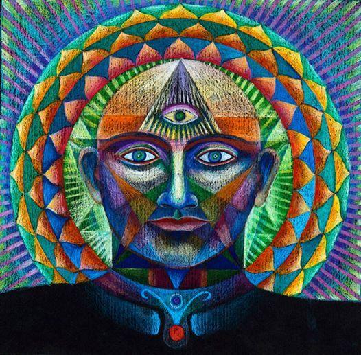 Mandala du troisième œil impression sur toile par mandalaway
