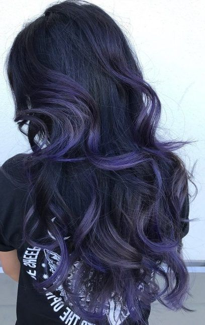 35 Purple Balayage Hair Color Ideas from Subtle to Vibrant - With Hairstyle