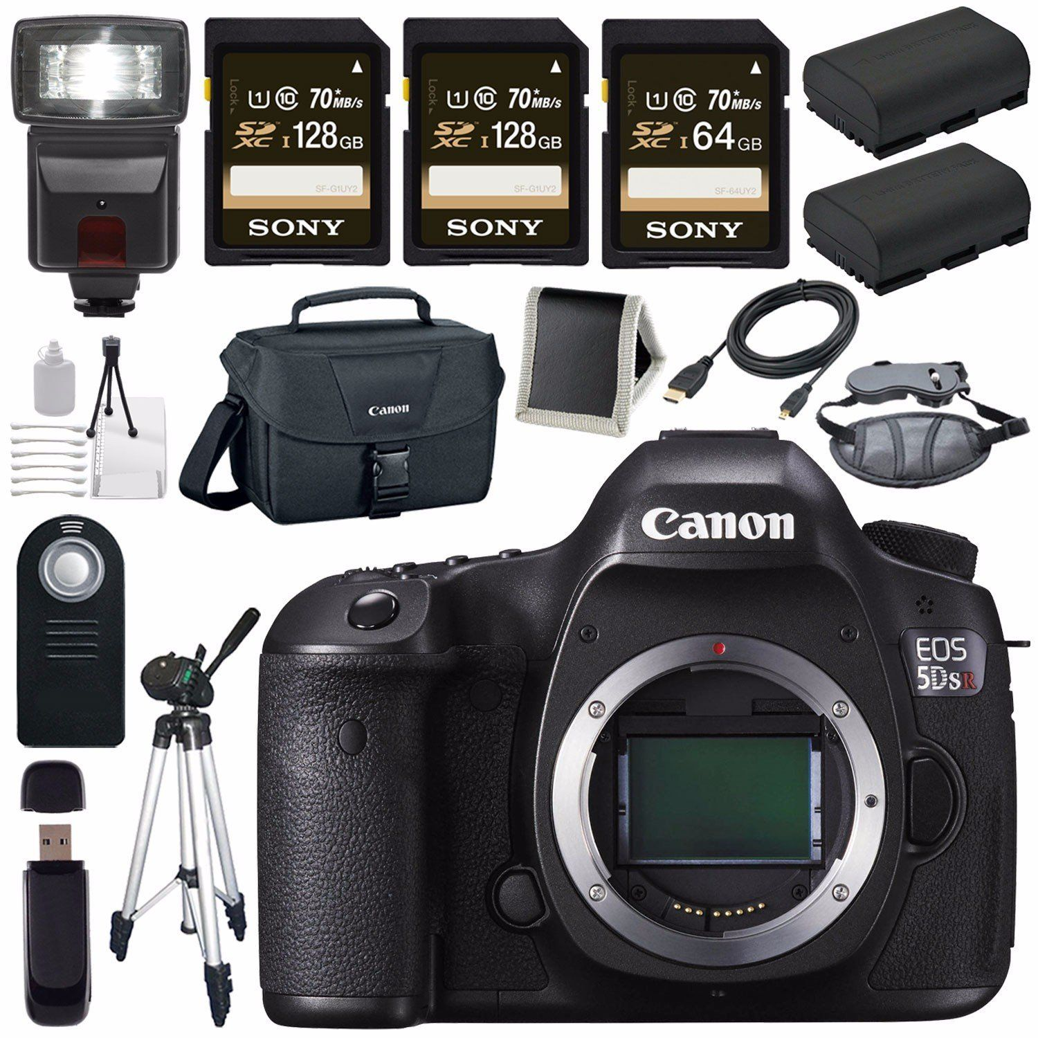 Full Frame Canon Eos 5ds R 5dsr Dslr Camera Lpe 6 Lithium Ion Battery Canon 100es Eos Shoulder Bag Bundle 4 Can Digital Camera Photography Gear Sony Camera