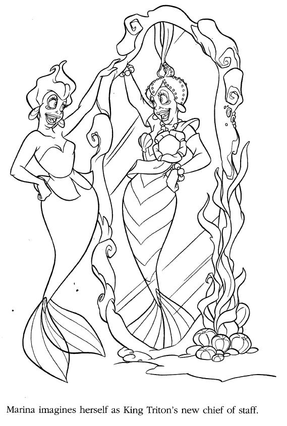 Ariel coloring pages - Google-søgning | Mała Syrenka Kolorowanki ...