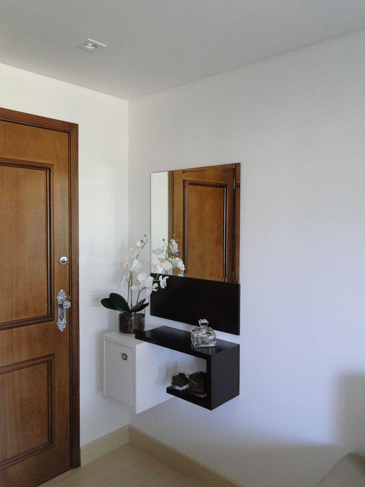 Curso De Artesanato Manaus ~ aparador suspenso com espelho e nicho Hall Pinterest Entradas pequenas, Hall de entrada e
