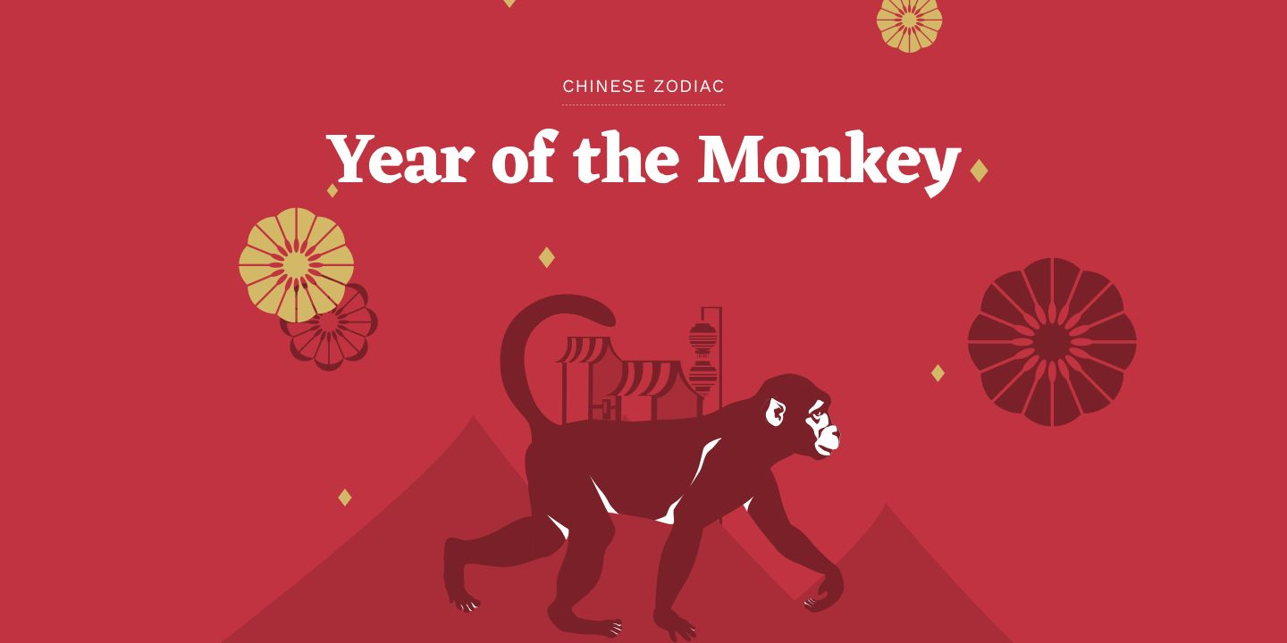 The Monkey Is The Ninth Of All Zodiac Animals Learn Why Monkeys Are Lighthearted Pranksters Who Have The Ability To Year Of The Monkey Year Of The Rat Zodiac