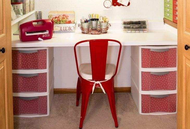 Plastic Drawer Storage Ideas That Are Decorative And Perfect For Small Spaces Plastic Storage Drawers Sewing Room Storage Diy Storage Desk