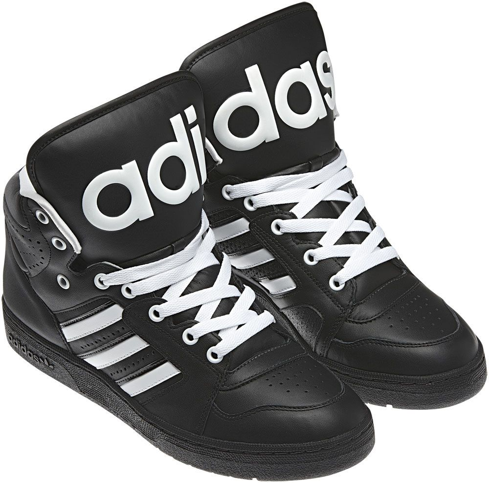 old school black and white adidas shoes