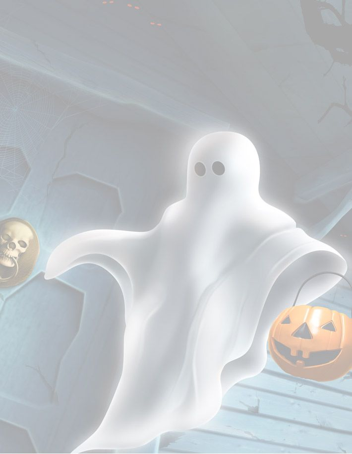 Halloween Floating Ghost Printable Background