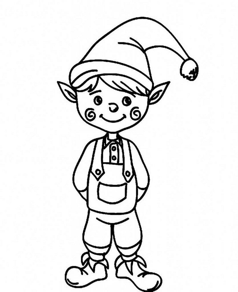 Elf On The Shelf Coloring Sheets Printable Christmas Coloring Pages Cute Coloring Pages Elf Drawings