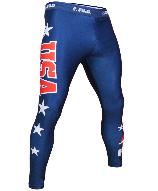 8fec1addeeff3 Fuji USA Jiu Jitsu Spats For NOGI Grappling & MMA   Mens Tights ...