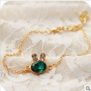 China Exquisite Green Gem Bracelets Rabbit Bracelets--Cheap Wholesale