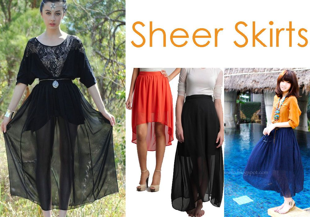 Sheer skirt tutorial