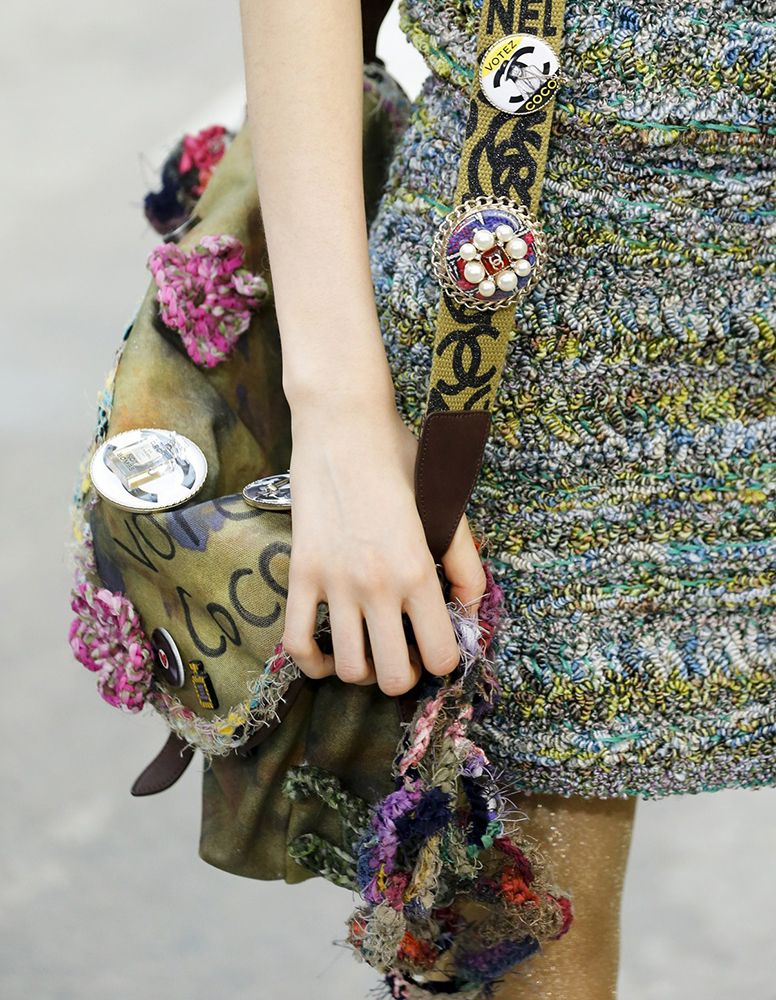 Chanel's Spring 2015 Bags are ProtestInspired Mixed Bag