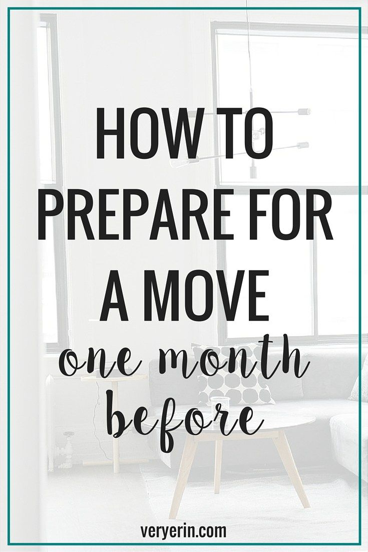 How were preparing for our move one month before very