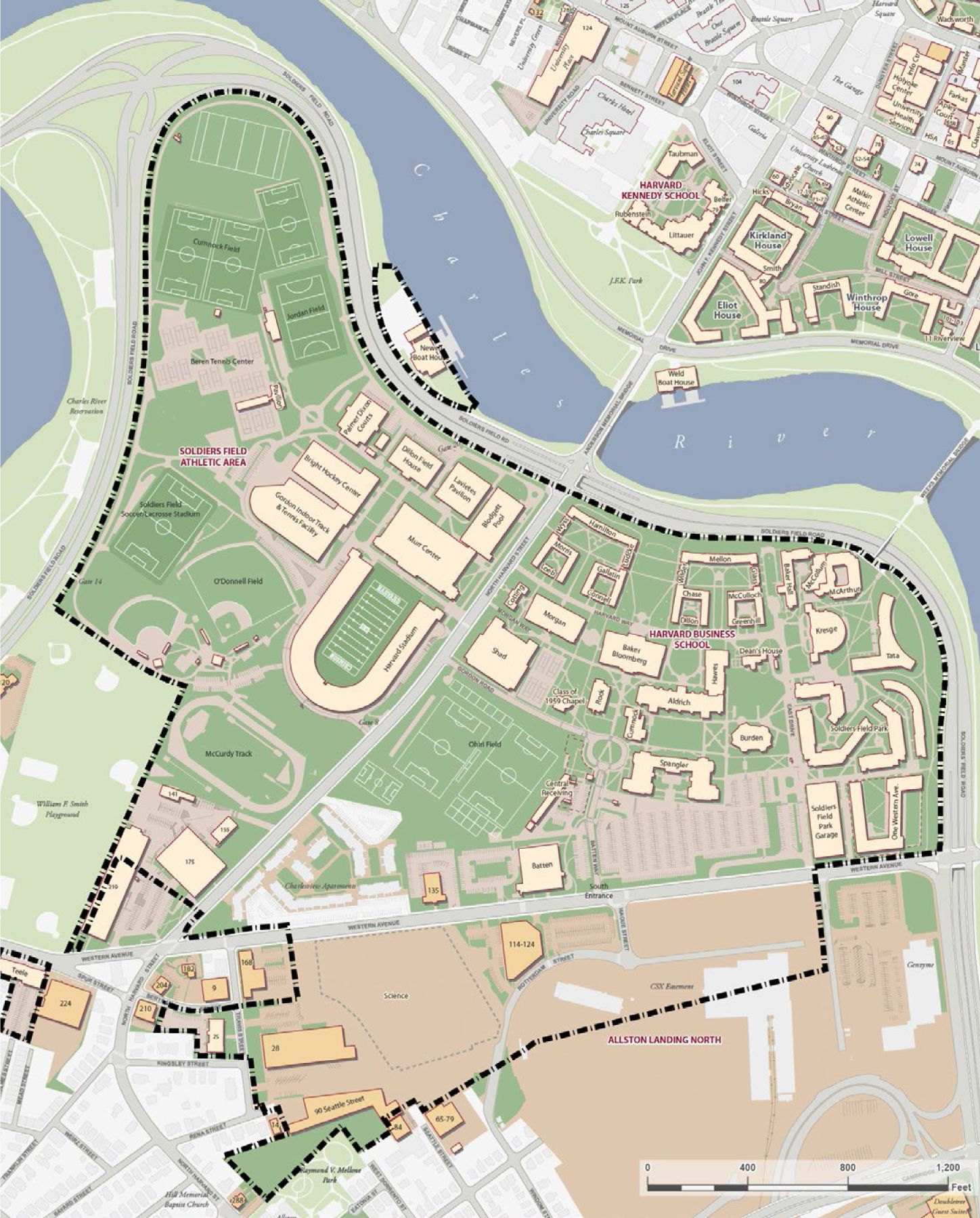 Under Armour Campus Map.Harvard Files Institutional Master Plan In Allston Harvard