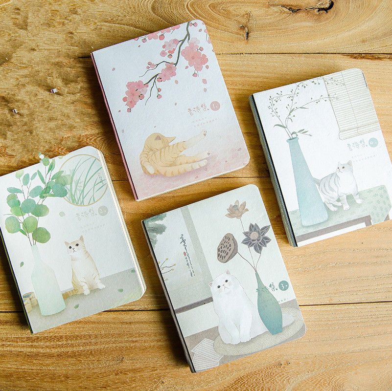 Japanese Cat Ver 3 1pc Cute Notebook Planner Study Agenda Diary