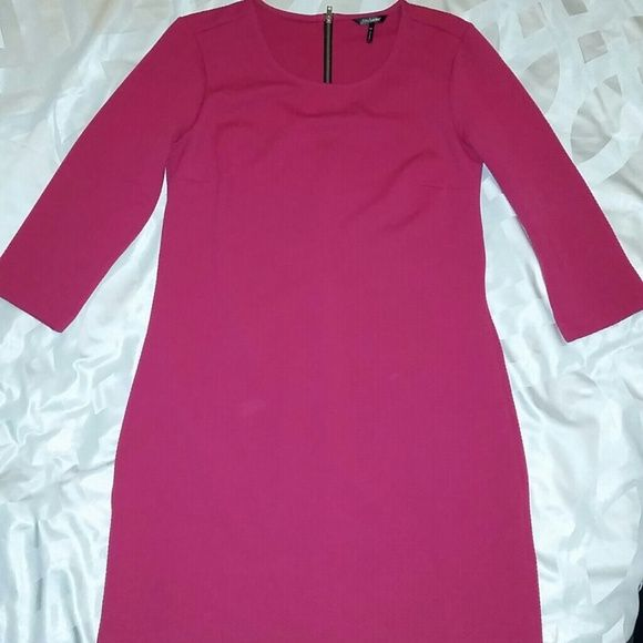 Daisy Fuentes NWOT Hot pink Daisy Fuentes textured shift dress.  Adorable looking!  95% polyester.  5% spandex. Daisy Fuentes Dresses
