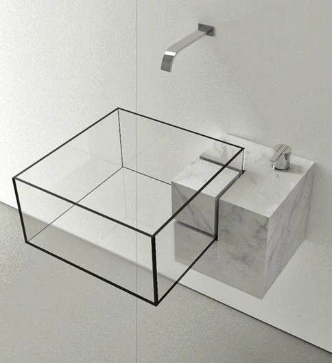 Decoracion Hogar Google DECORACION BAÑOS Pinterest - Almost invisible minimalist kub bathroom sink by victor vasilev