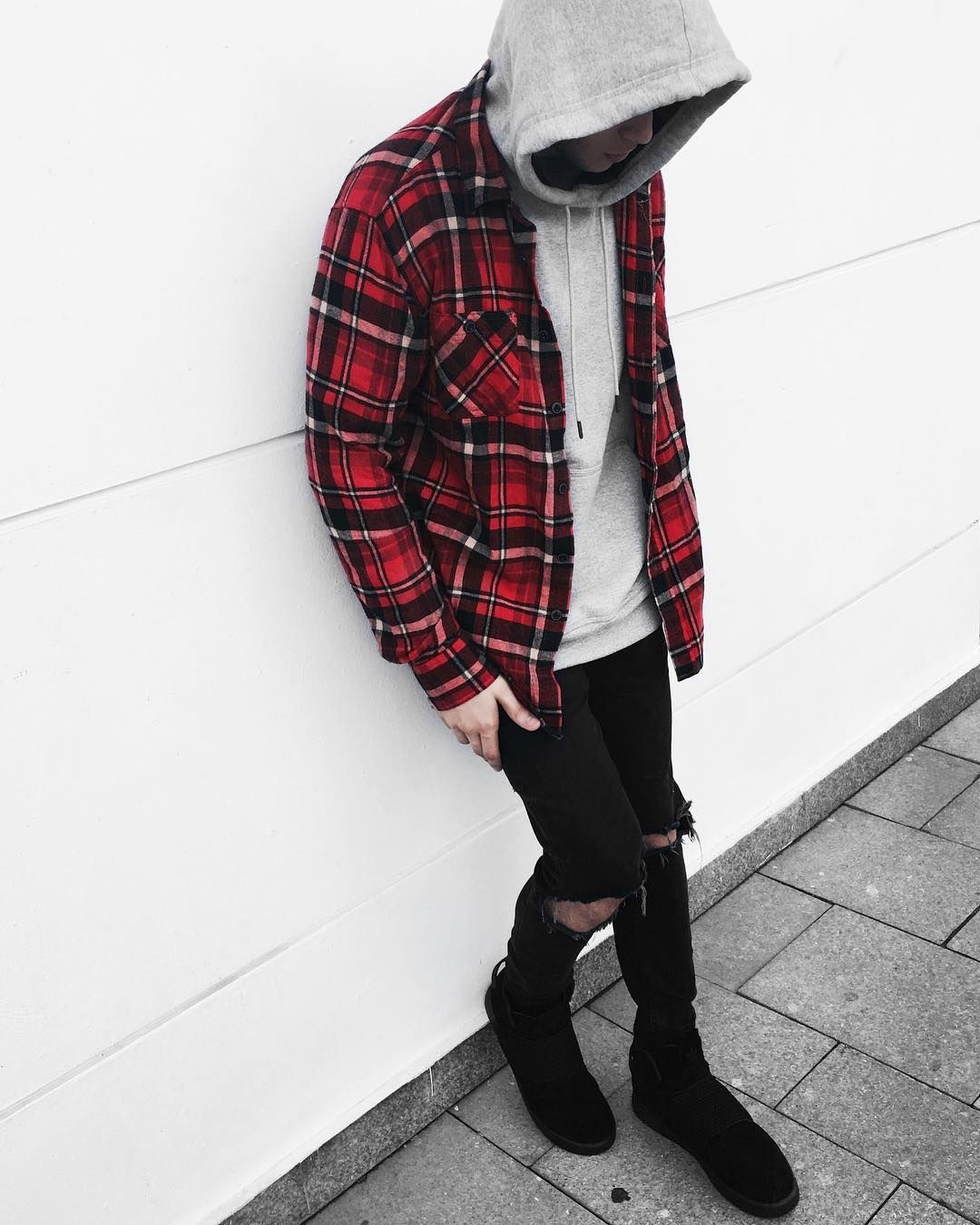 Men's outfits with flannel  Menus and womens fashion clothing apparel  minimal streetwear