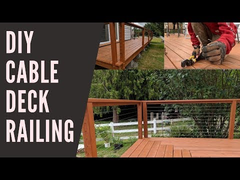 102 Diy Deck Cable Railing Hidden Tensioners We Saved Hundreds Youtube In 2020 Diy Deck Cable Railing Cable Railing Deck