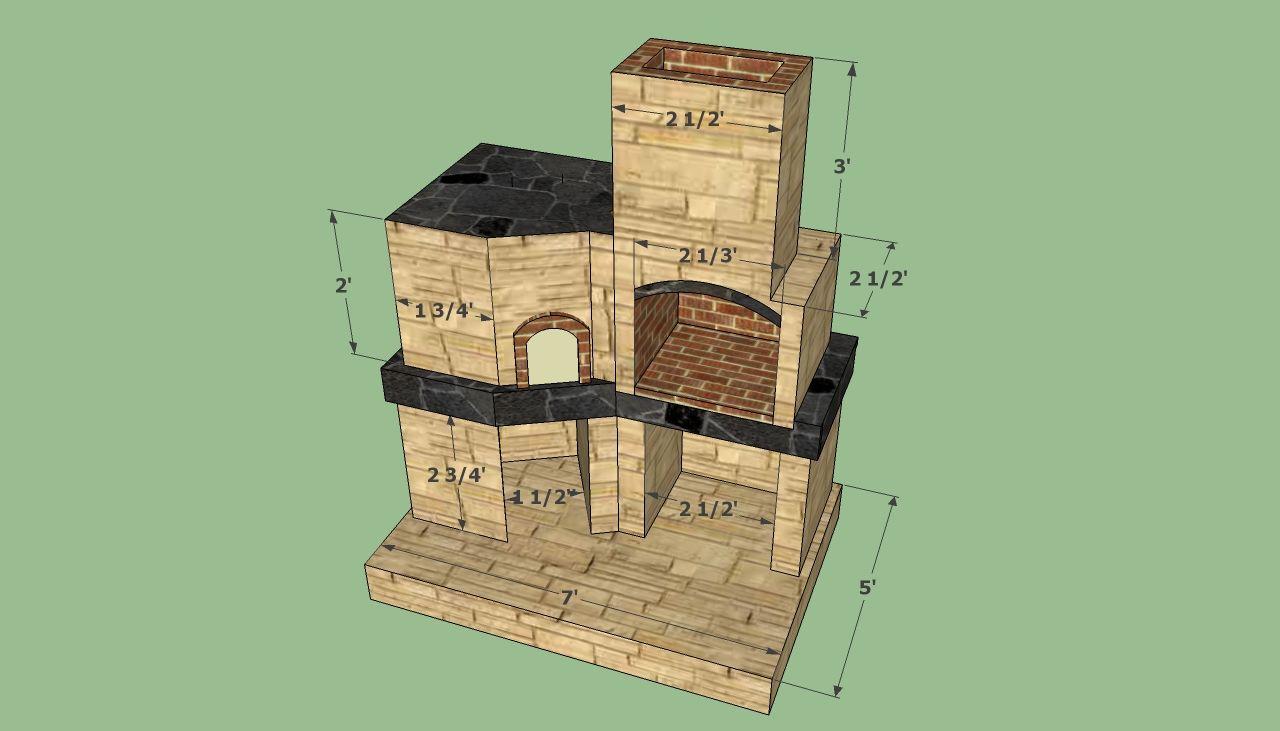 Brick oven plans | Diy pizza oven, Brick oven outdoor ...