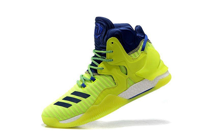 buy popular 95daf e0117 Adidas Derrick Rose 7 Vii Flash Lime Green Royal New Arrival Sneaker