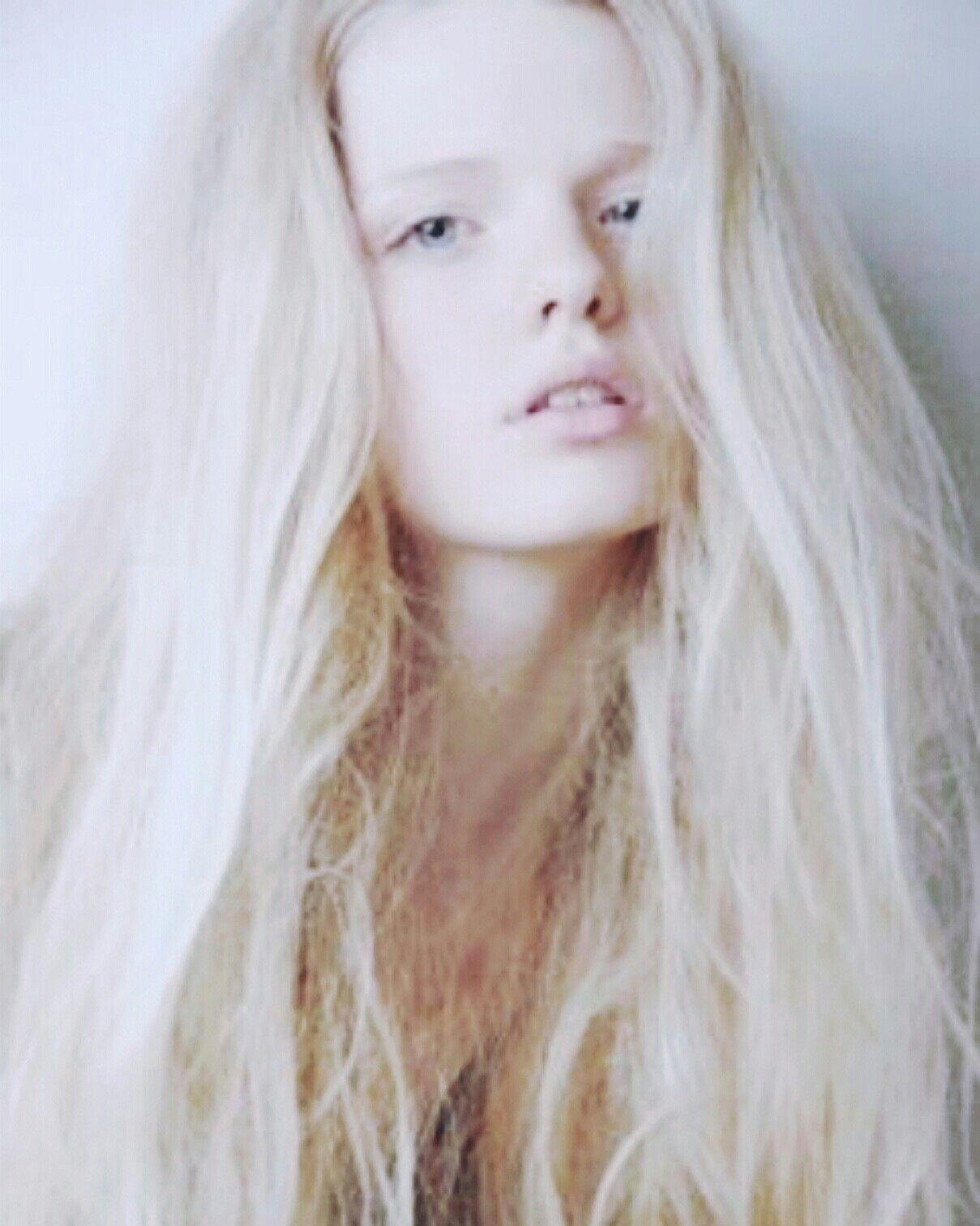 White Hair White Hair Girl Platinum Silver Hair Albino