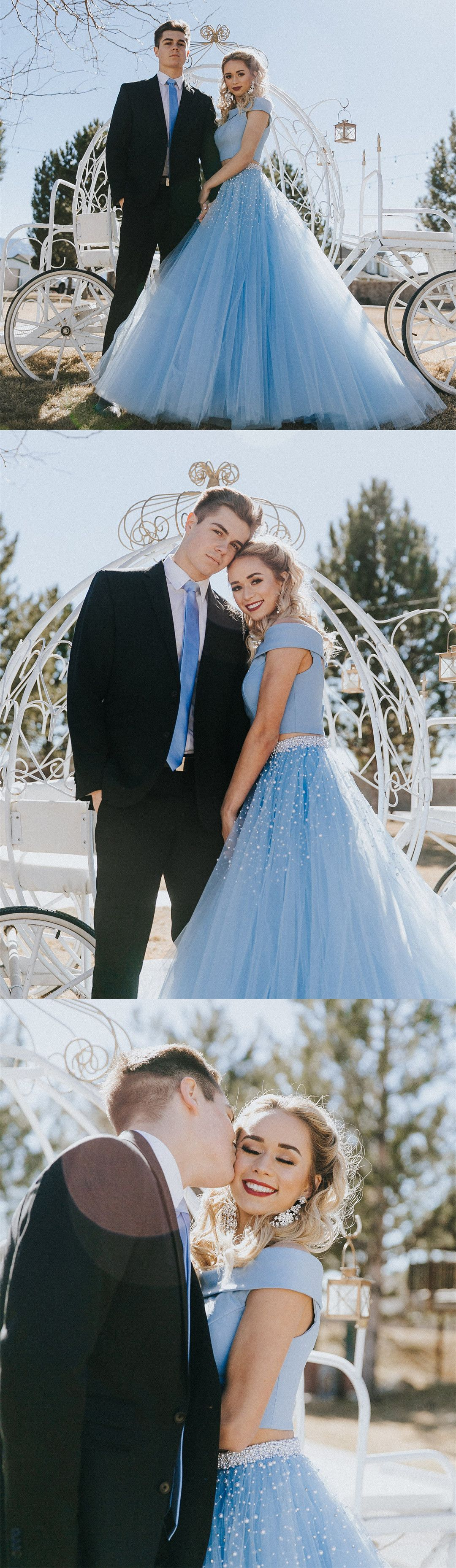 prom dress two piece prom dress blue long prom dress party