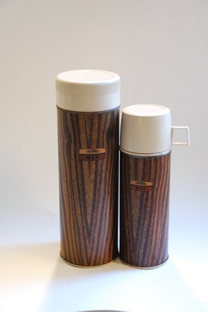 faux wood thermos!