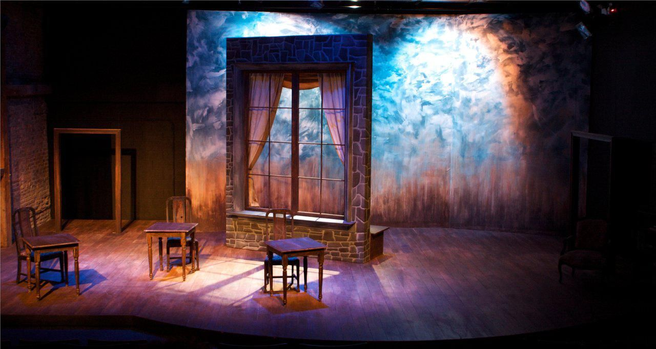 Scenic Design For Theories Of The Sun By Eric Luchen For Sideshow Theatre Company Set Design Theatre Scenic Design Stage Set Design