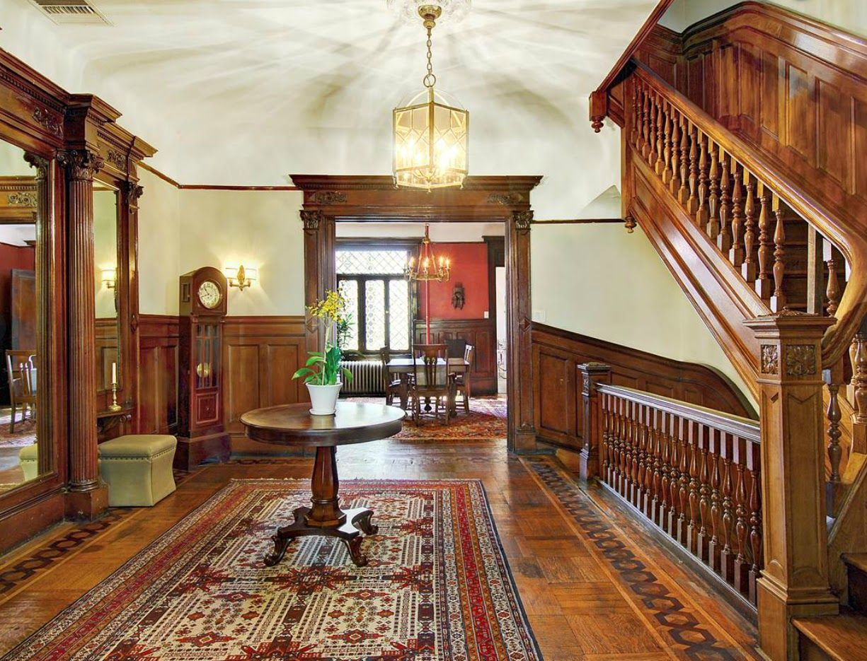 Victorian Interiors | Harlem New York West 142nd Street brownstone Victorian  interior .