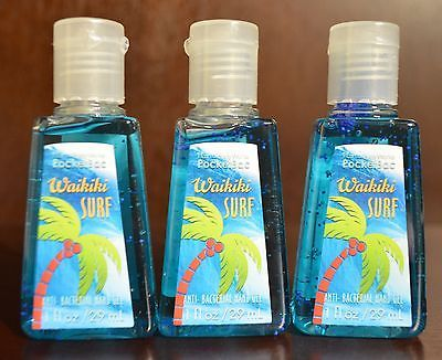 3 Bath Body Works Waikiki Surf Pocketbac Anti Bacterial Hand Gel