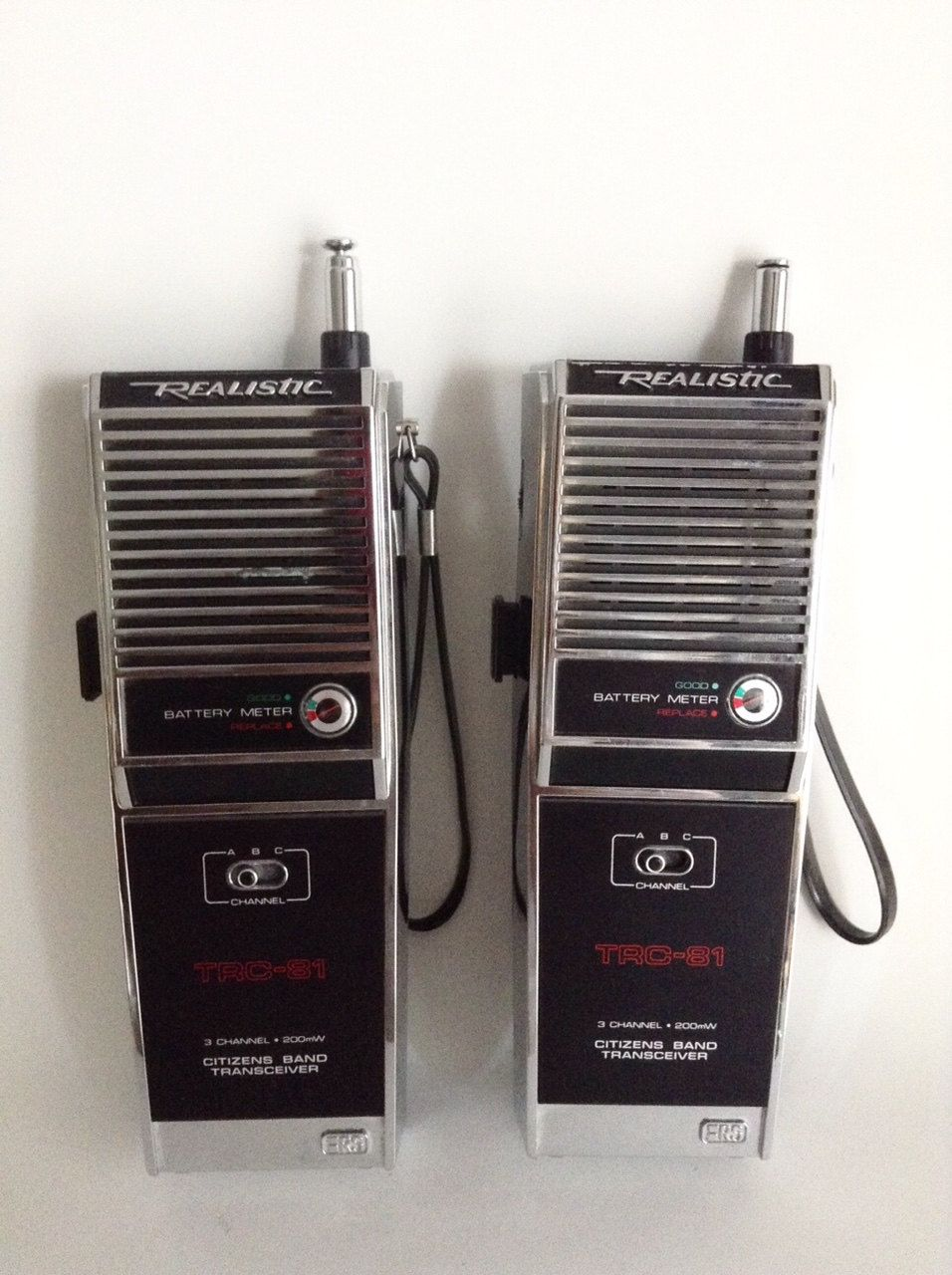 Vintage Walkie Talkies By Realistic Old Citizens Band Transceiver