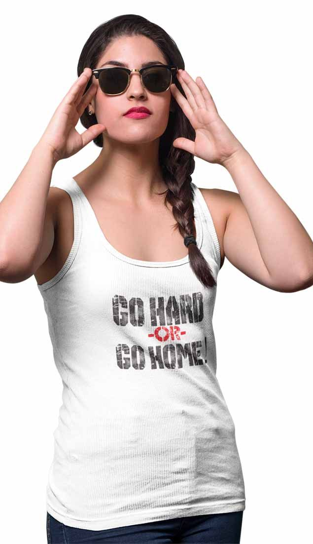 """Go hard or go home""  women tank, Available in 6 color #women #tank #fitness #motivation"