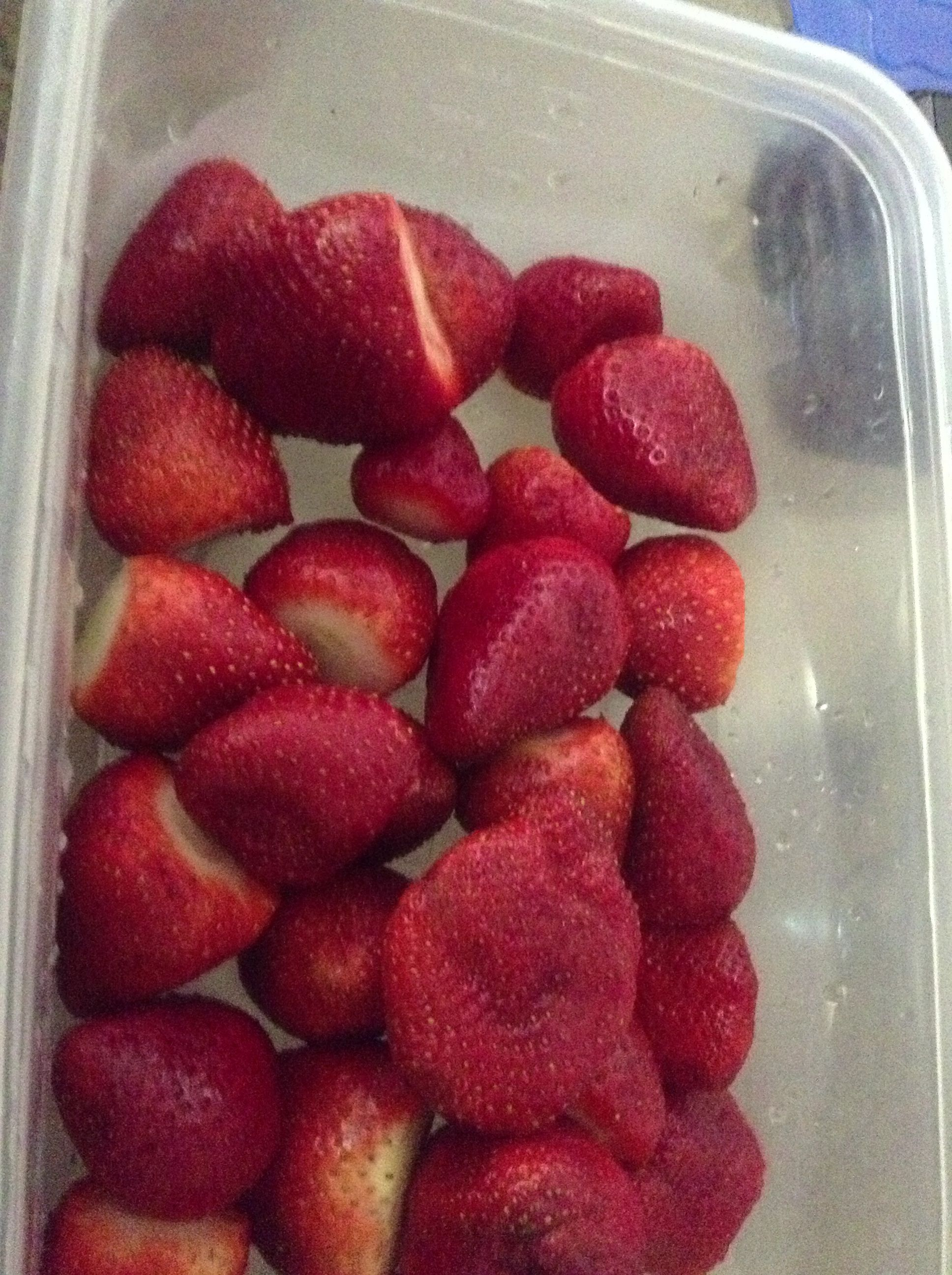 Fresh cut and washed strawberries from fresh and easy!