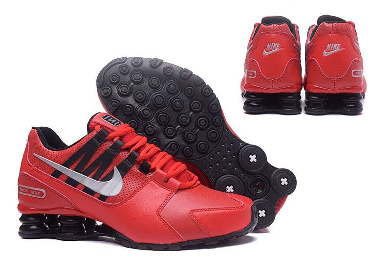 fbed73f59af Mens Nike Air Shox Avenue 803 Basketball Shoes Black Red White ...